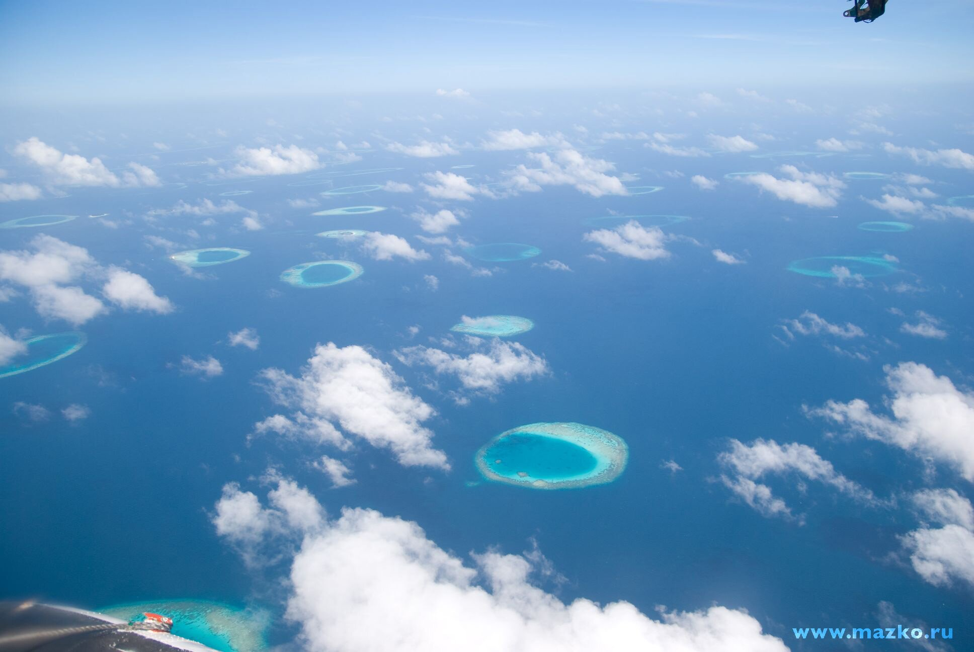 the Maldives from the height